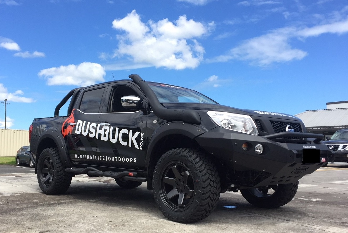 Nissan NP300 on Black Rhino Roku & AMP M/T