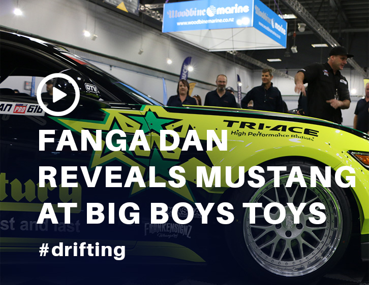 Fanga Dan Revealing the Ford Mustang at Big Boys Toys 2017